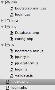 struktur ajax login php mysql